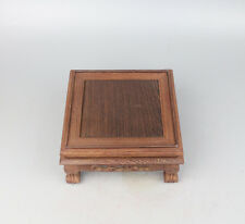 rosewood stand China wood square display shelf Chinese bottle vase figure base