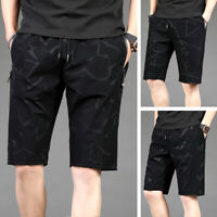 Summer Cropped Trousers Mens Shorts Sports Pants Beach Quick-drying Short Pants