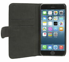 Holdit Genuine Leather Wallet Case Standard for iPhone 6/6S (2 Card Pockets) BK