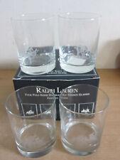 RALPH LAUREN Four polo scene double old fashioned glasses UNUSED