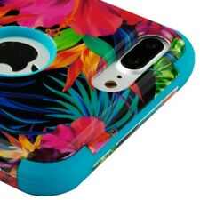FOR IPHONE 8 PLUS/7 PLUS COLORFUL FLOWER SHOCKPROOF CASE TUFF RUGGED COVER