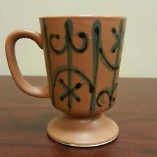 Wrought Iron Fence Design Brown Pedestal Coffee Tea Cup Mug