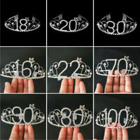 Women Birthday Party Princess Crystal Hair Tiara Wedding Bridal Crown Headband
