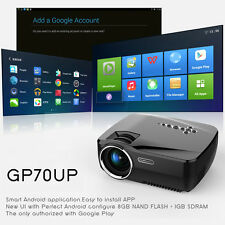 2017 Vivibright GP70UP Smart Mini Led Android Projector 1200 Lumi Wifi BT HDMI