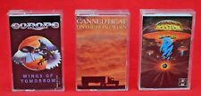THREE 'ROCKING' CASSETTE TAPES:   CANNED HEAT;  EUROPE and BOSTON - GREAT COND!