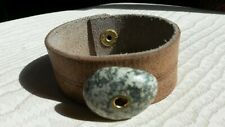 Beach Stone Bracelet Men's Tan Leather &