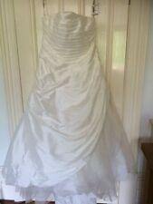 Polyester Plus Size A-line Sleeveless Wedding Dresses