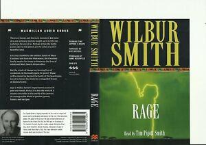 WILBUR SMITH - RAGE AUDIOBOOK / 3 X CD / DVD CASED / NARRATOR TIM PIGOTT-SMITH