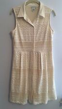 Liz Claiborne Ivory Lace Dress Size 10 (CL196-PFRP) New without tags