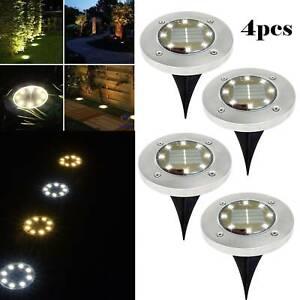 4PCS Solar Powered Outdoor Garden Path Lighting Yard Lawn Road Spot Light Lamp
