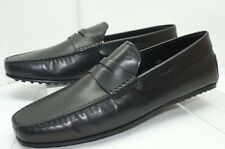 New Tod's Black Mocassino City Gommino Loafers Shoes Size 10.5 Drivers Leather