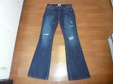 Aeropostale Hailey Flare dark wash distressed jeans size 0
