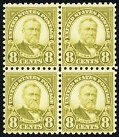 589, 8¢ Mint VF NH Block of Four Stamps Cat $230.00 - Stuart Katz