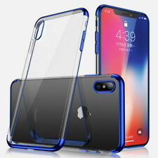 Electroplate Case Slim Clear Plating Soft TPU Crystal Cover For iPhone XS Max XR