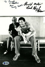 "Saddler & George Foreman Autographed 7x10 Photo ""To Ronald"" Beckett F98466"