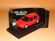 VW GOLF Gti IV 1999 Rot Sondermodell Generation Golf  Minichamps  1/43 O V P