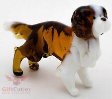 Art Blown Glass Figurine of the Cavalier King Charles Spaniel dog
