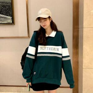Harry Potter Slytherin HufflepuffStrikte Sweater Stickerei Schuluniform Pullover