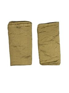 """JC Penney Home Vintage Discontinued Silk Drapes Curtains Panels 2 Tan 90"""" Pair"""