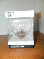 Ikea Nittio Led Bulb E26 20 Lumen Globe Copper 103.173.48