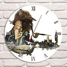 Reloj De Pared Sherlock Holmes Color Vinyl Record De Diseño Hogar Tienda Oficina Coleccionista