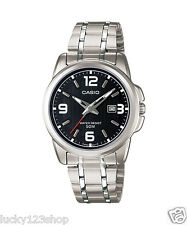 LTP-1314D-1A Schwarz Damen Casio Uhren Analog Kleid Quarz Brand-New Stahl Neu