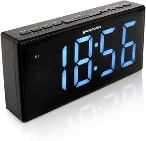 Digital Alarm Clock Radio Extra Large Display Grouptronics GTCR-T1M Mains power