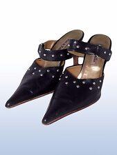 vizi & follie donna scarpe sabot nero pelle made italy taglia 39 tacco 10 cm