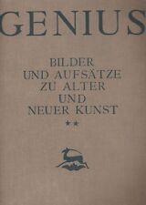 Genius. Bilder und Aufsatze zu Alter und Neuer Kunst, 1920