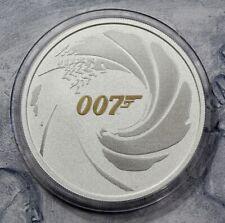 1 Dollar 2021 - Tuvalu - James Bond 007 - Color -1 oz Ag