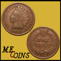 1907 Indian Head Cent Penny , Circulated Good-Very Good , US Coin