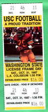 10/31/87 USC/WASH STATE FOOTBALL FULL TICKET