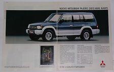 Advert Pubblicità 1992 MITSUBISHI PAJERO V6 3000