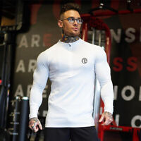 One Athletic Men's Hoodie Long Sleeve Top Fitness Gym Zipped Fashion Sweatshirt