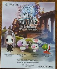 World of Final Fantasy Day One DLC PS4 (NOT FULL GAME)