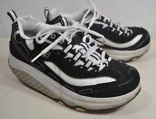 Womens Skechers Shape Ups Black White Gym Shoe Sneaker Size 7.5 Walking Shoes