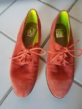 orange DV Dolce Vita Mini Suede Loafer Flats Oxford Shoes Size 6.5 sz women's
