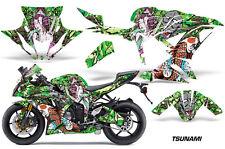 Street Bike Graphics Kit Decal Wrap For Kawasaki Ninja ZX6R 636 13-16 TSUNAMI G