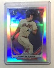 Bradley Zimmer 1st Bowman Chrome Refractor Prospect Cleveland Indians