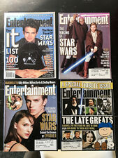 Star Wars Cover Entertainment Weekly Magazine lot. 2000, 2001, 2002 vintage