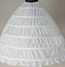 Newest White  6 Hoop A-Line wedding Petticoat Bridal Crinoline Undershirt