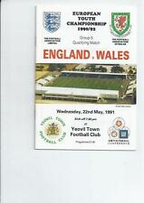 Under 18s/ 21s Football International Fixture Programmes