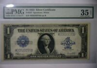 "1923 $1 ONE DOLLAR ""HORSE BLANKET"" SILVER CERTIFICATE LARGE SIZE NOTE VF 35"