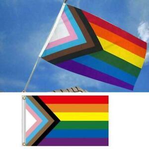 Banner Progress Pride Flag Gay Pride Rainbow Flag Showing Hot Pride Your W Sale