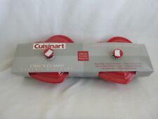 Cuisinart 9 Oz Ramekins Red Heart Lidded Casseroles Set of Two NIB