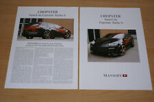 MANSORY brochure catalogue PORSCHE CAYENNE turbo S CHOPSTER - années 2000