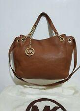 Michael Kors Bedford large tan leather chain shoulder bag