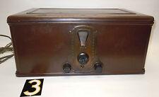 Vtg. Stewart Warner Radio 900 Series,w/Metal Wood Grain Cabinet