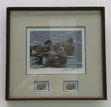 1990 TEXAS DUCK STAMP PRINT -FRAMED #6 ROBERT BATEMAN