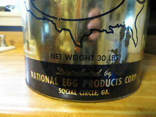 Nepco National Egg Products Corp chicken eggs advertising tin Social Circle GA.